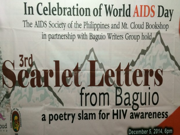 3rd Scarlet Letters from Baguio, a poetry slam for HIV awareness.