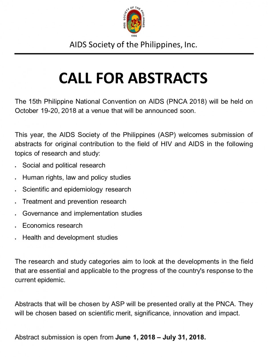 PNCA Call For Abstract